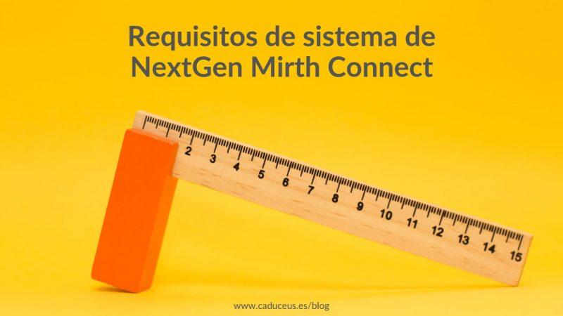 Requisito Sistema Mirth Connect